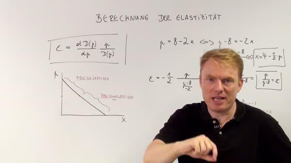 Berechnung Der Elastizitat Der Nachfrage Wiwiweb De